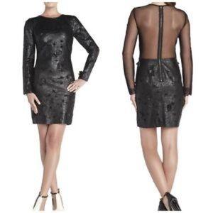 BCBG Maxazrua Jillea leather dress 2